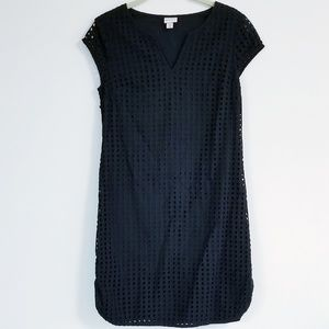 Merona Eyelet Classic Little Black Shift Dress
